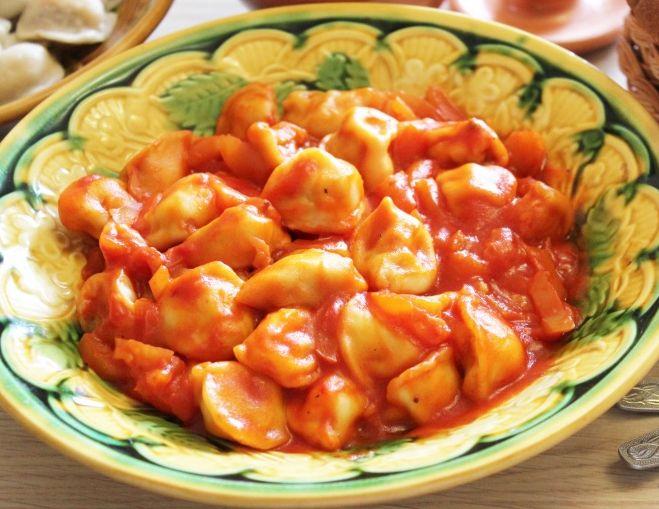 пельмени в томатном соусе рецепт с фото