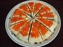 Торт-салат из блинчиков «Изобилие»